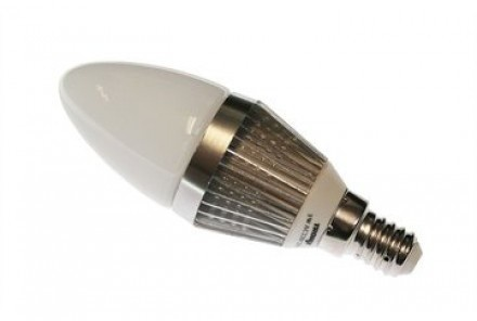 Tronix Dimbare led lamp E14 3W Kaars Milky