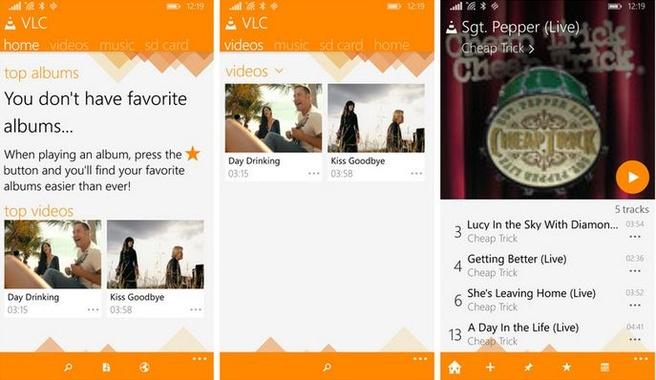 VLC voor Windows Phone