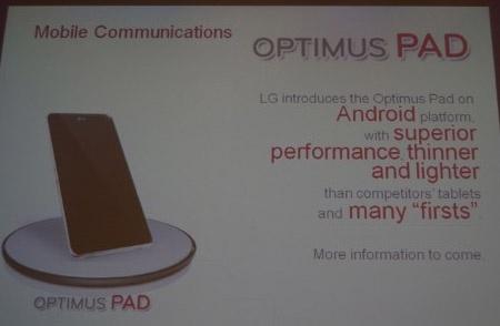 LG Optimus Pad-tablet
