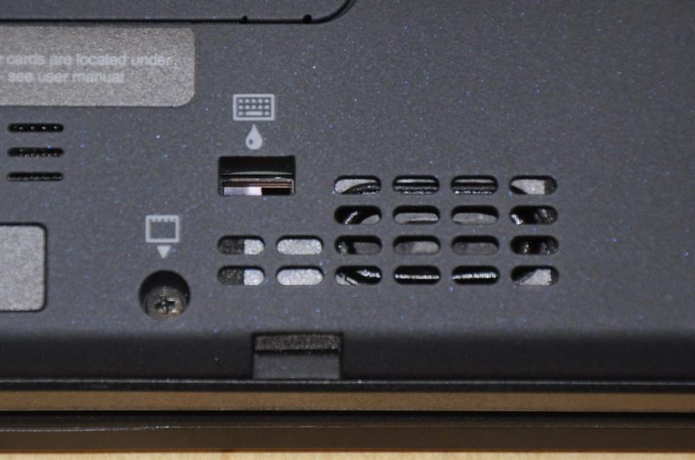 Onderkant: spill-resistant keyboard