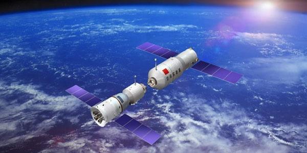 Koppeling tussen Shenzhou-9 ruimtevaartuig en Tiangong-1-module