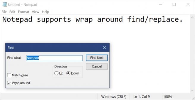 f8946c90e4e Microsoft geeft nieuwe functies aan Kladblok in Windows 10 ...