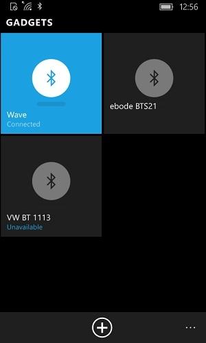 Wave verbonden met Windows Mobile 10