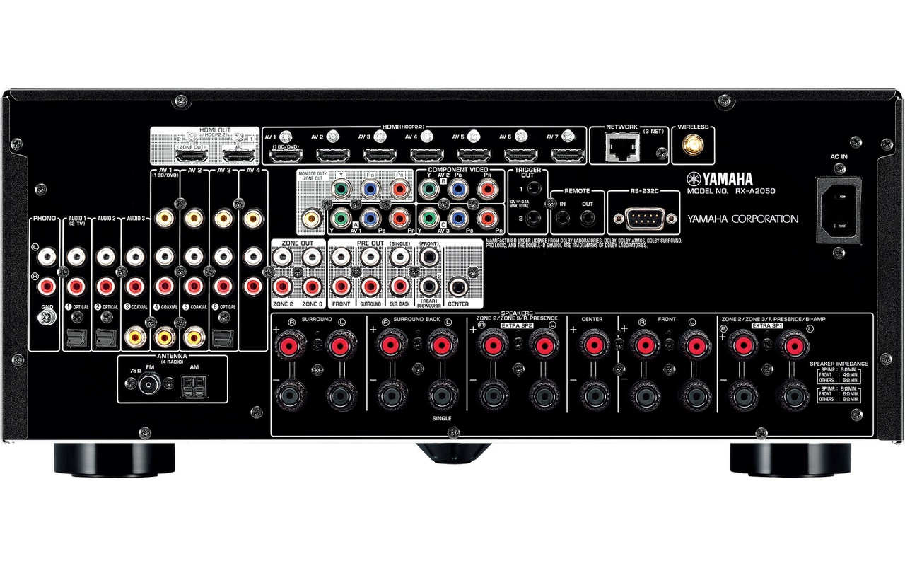 Yamaha rx a2050 titanium specificaties tweakers for Yamaha receiver firmware update 2017