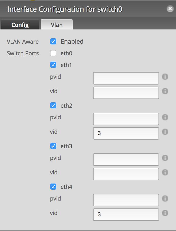 VLAN Config