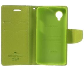 Mercury Fancy Diary Wallet Case voor LG Nexus 5 (D821) - Blauw Blauw