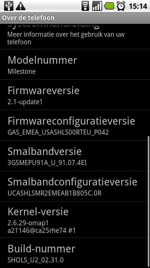Motorola Milestone 2.1 hack
