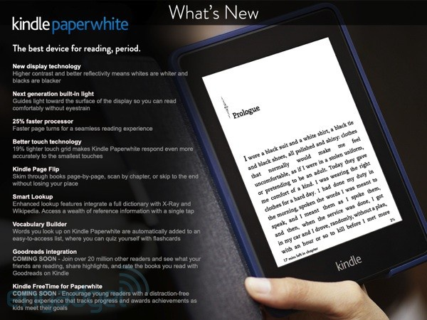 Kindle Paperwhite -- leak