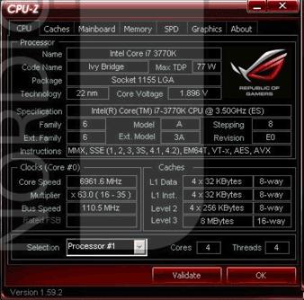Core i7-3770K @ 6961MHz