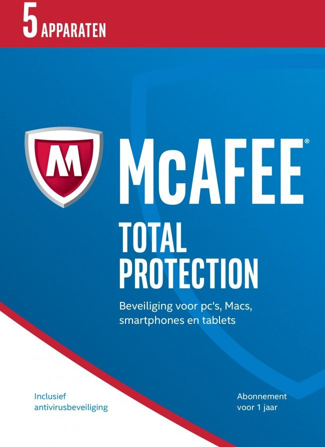 McAfee Total Protection 2017 NL (5D-1Y) (download versie) (MTP17D005RKA)