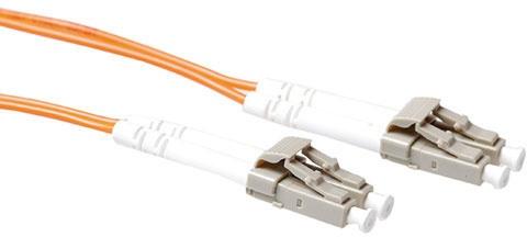 Advanced Cable Technology 0,5 meter LSZH Multimode 50/125 OM2 glasvezel patchkabel duplex met LC connectoren