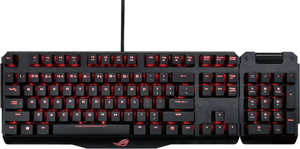 asus republic of gamers claymore qwerty us cherry mx brown