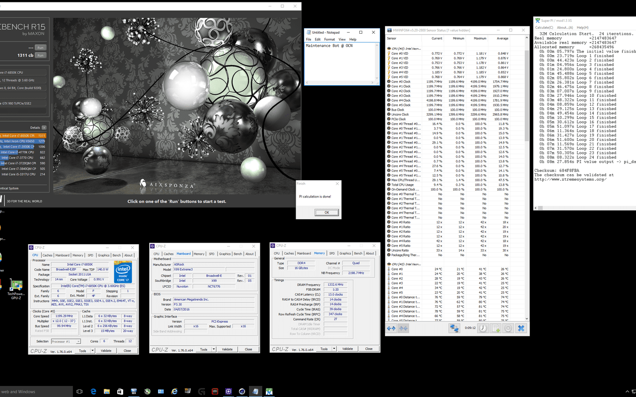 Intel Core i7-6850K benchmarks