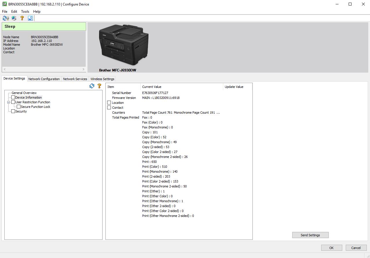 bradmin professional 3 configure device