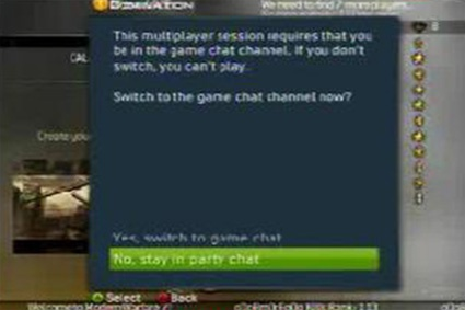 Party-chat Xbox 360 Modern Warfare 2