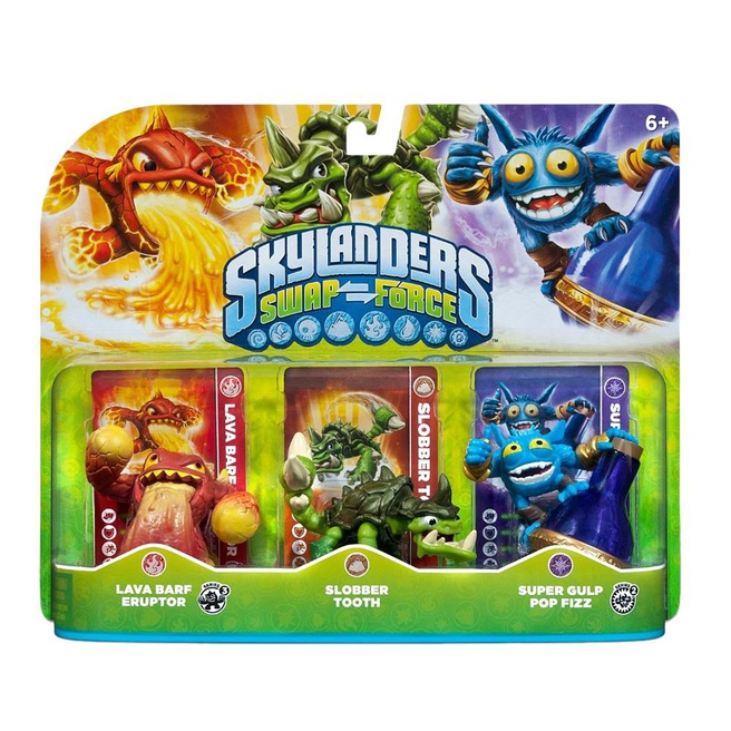 Skylanders Swap Force Triple Pack A ( Lava Barf, Slobber Tooth, Super Gulp), Nintendo 3DS, PlayStation 3, PlayStation 4, Wii, Wii U, Xbox 360, Xbox One