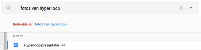 Google Drive zoekfunctie