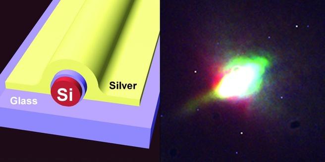 Silicium als lichtbron