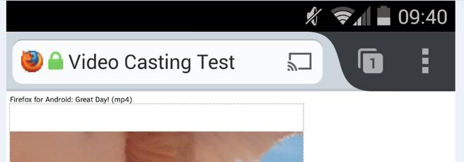 Chromecast op Firefox voor Android