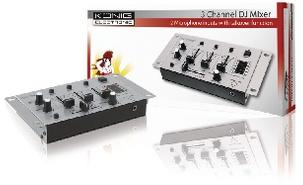 König 3-Kanaals DJ Mixer
