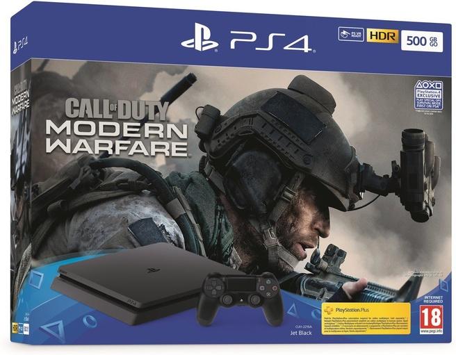 Sony PlayStation 4 500GB + Call of Duty: Modern Warfare (2019) Zwart
