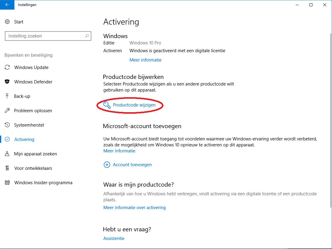 Windows activering