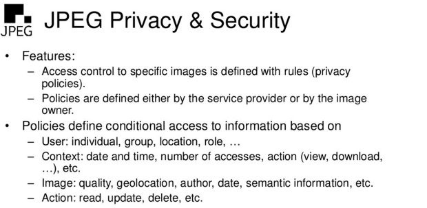 Jpeg Privacy & Security