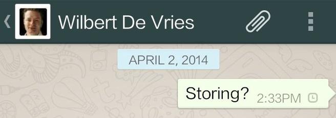 Storing WhatsApp 2-4-2014