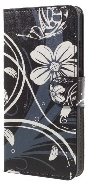 qMust Huawei Honor 5C Wallet Case - hoesje met stand - White Flower