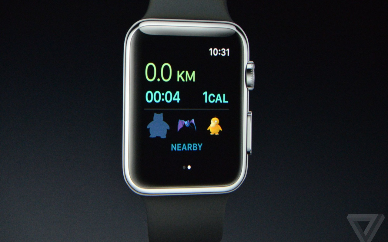 Pokémon Go op Apple Watch