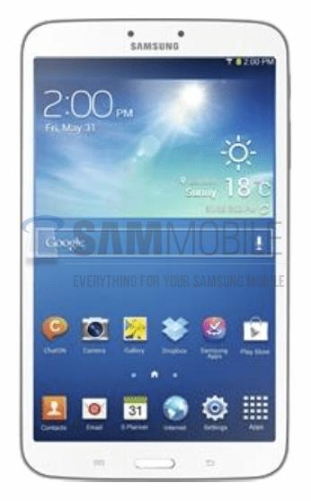 Samsung Galaxy Tab 3 8.0 leak