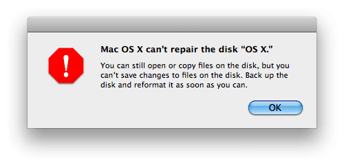 OSX error SSD